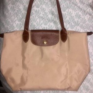 Longchamp Le Pliage small tote bag in tan